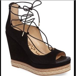 Sam Edelman Harriet Black Wedge Heels